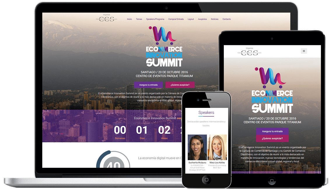 Sitio web para evento E-commerce Innovation Summit