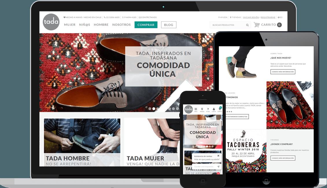 Tienda Virtual & Sistema de gestión Tada Zapatos