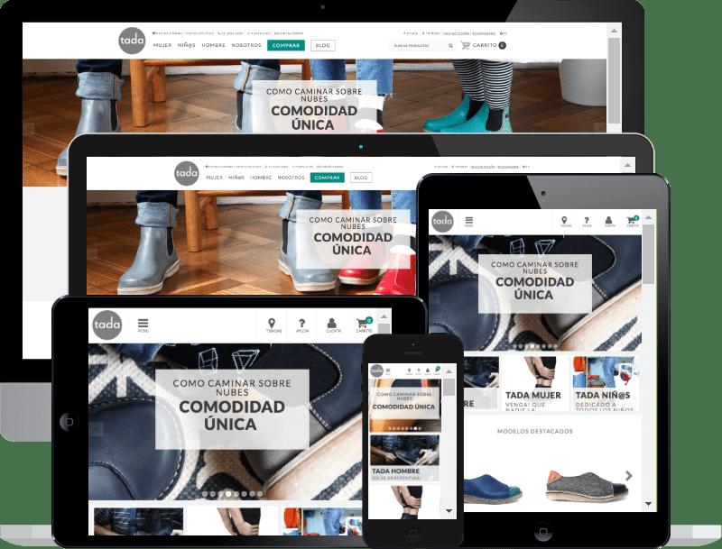 Tienda online y sistema de gestión Tada