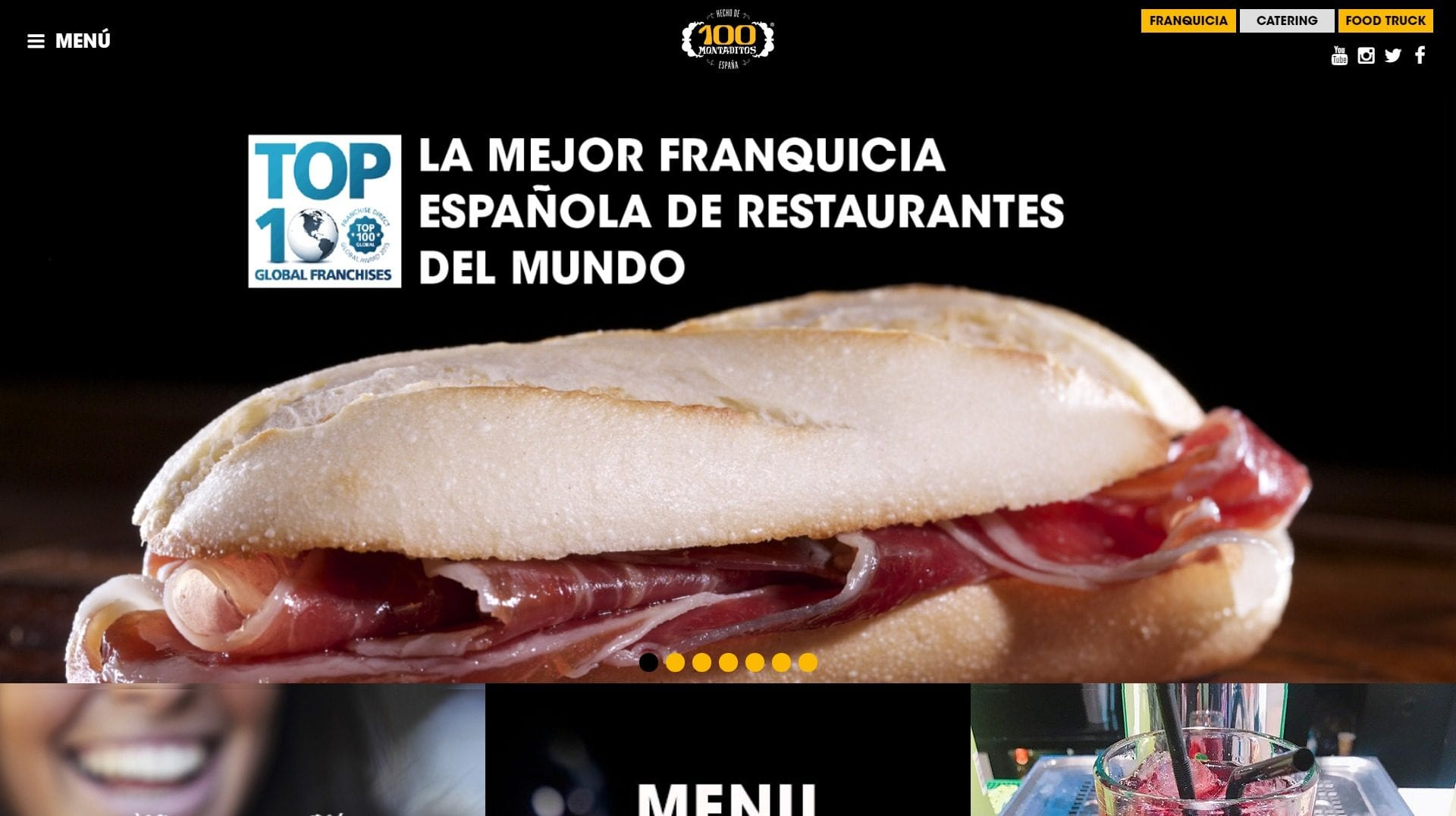 100montaditos desktop100 Montaditos Website