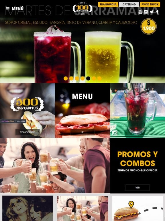 100 Montaditos Website