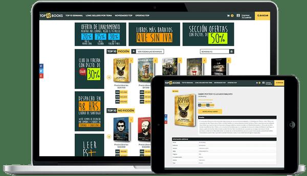 Librería online ecommerce Top 10 Books