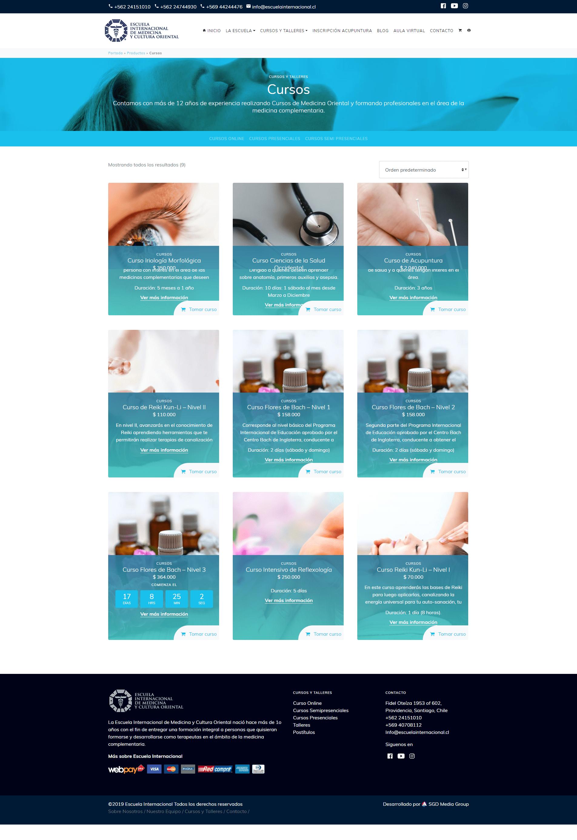 Catálogo Escuela Internacional de Medicina y Cultura Oriental