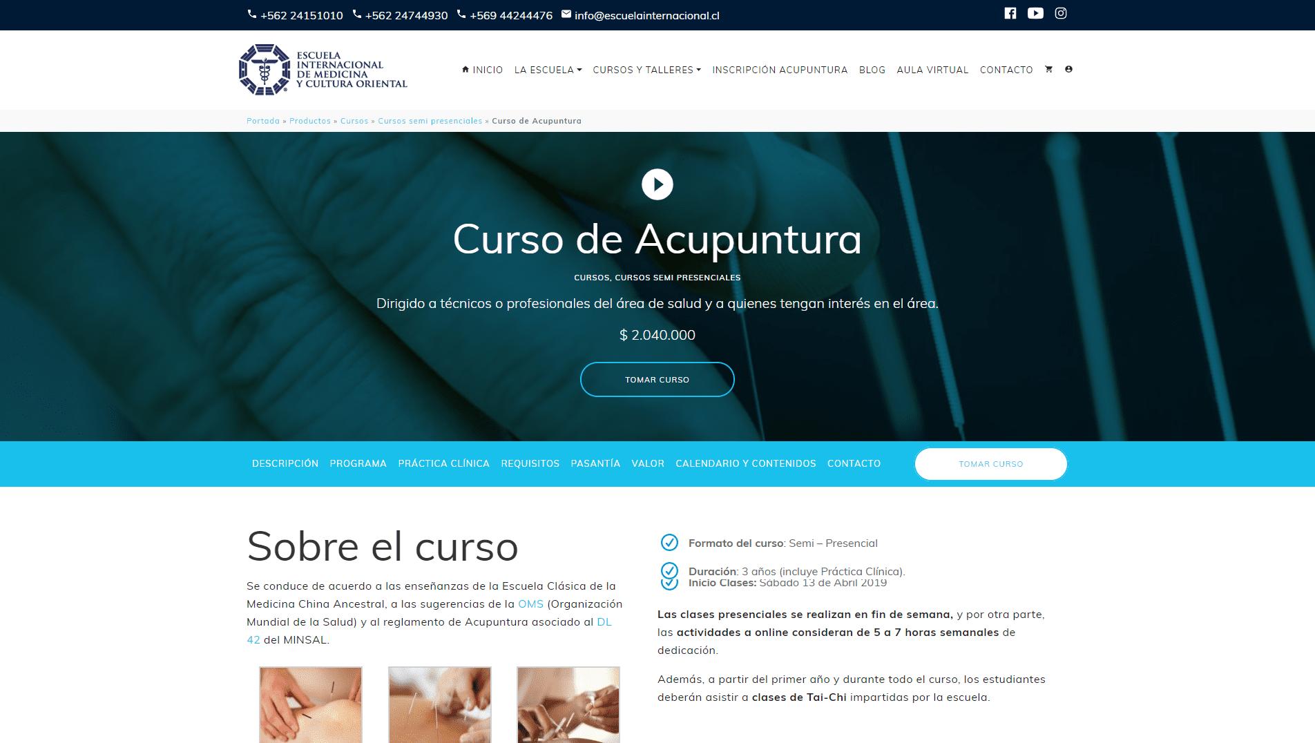 Curso Escuela Internacional de Medicina y Cultura Oriental