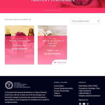 Talleres Escuela Internacional de Medicina y Cultura Oriental Tablet