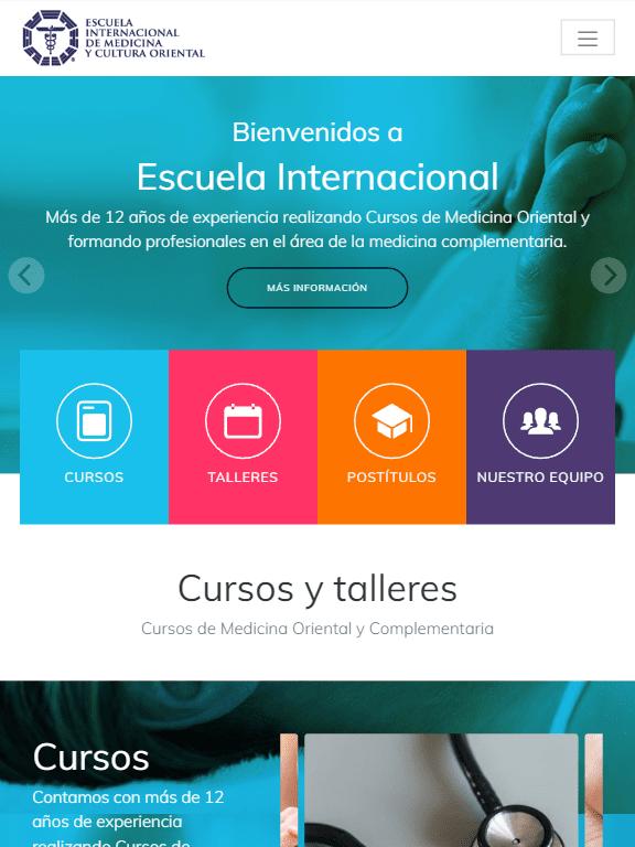 Frontpage Escuela Internacional Tablet
