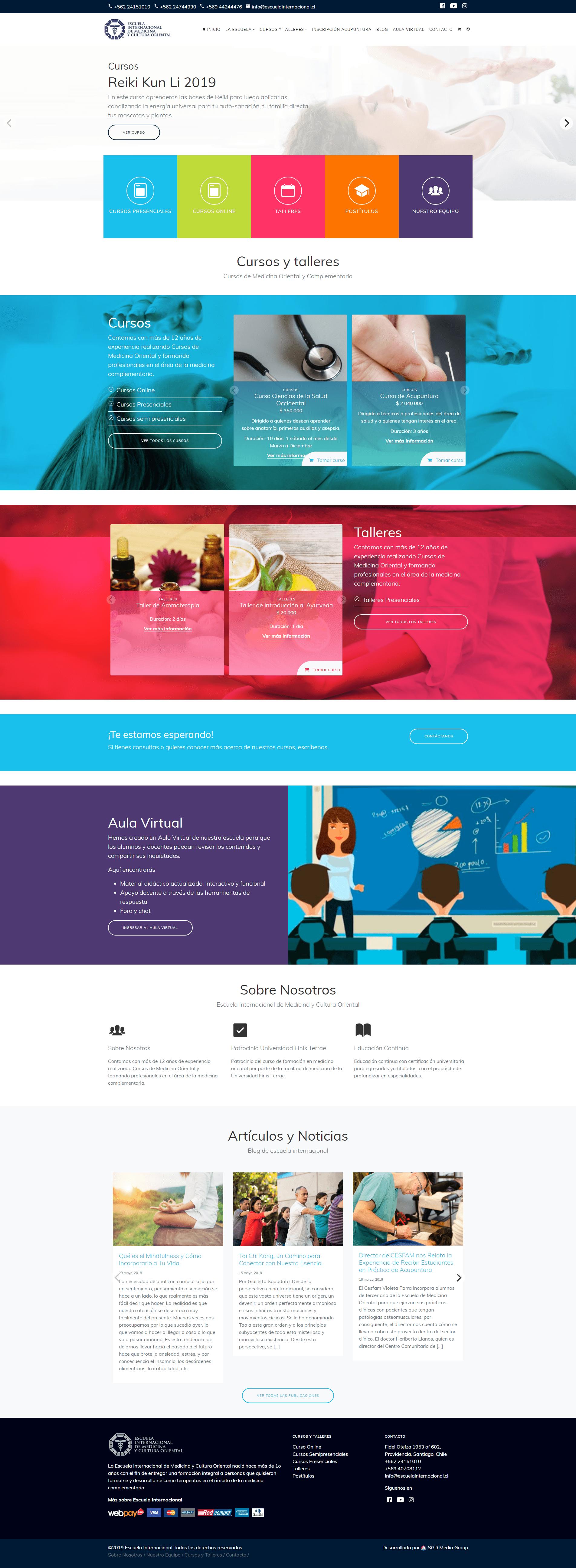 Frontpage Escuela Internacional de Medicina y Cultura Oriental