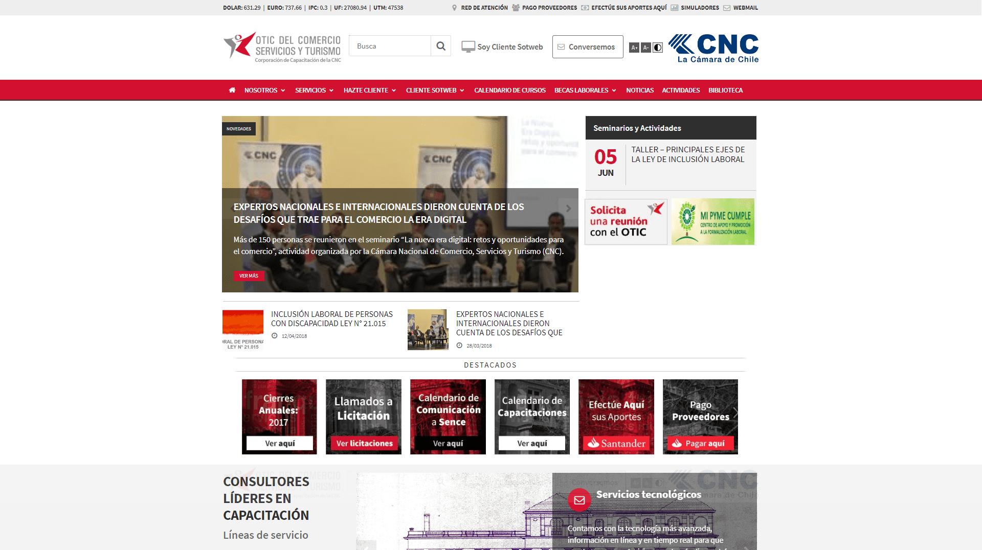 Frontpage OTIC del Comercio