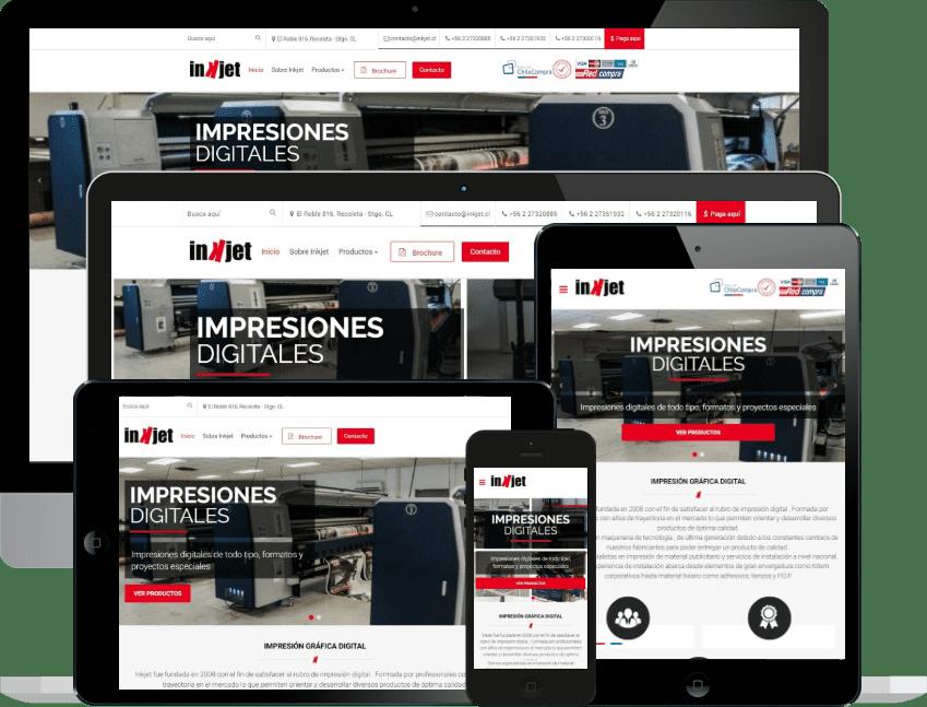 Desarrollo sitio web corporativo Inkjet