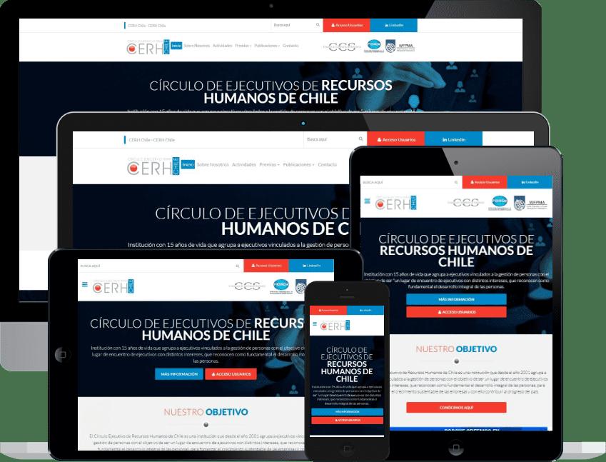 Sitio web e intranet corporativa CERH Chile