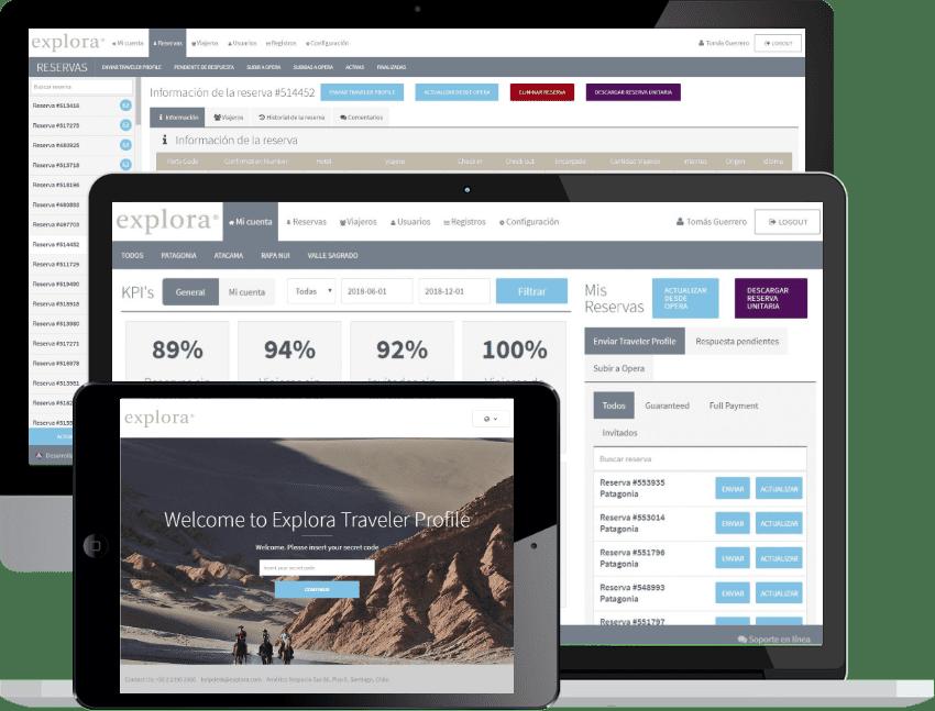 Sistema para gestión operacional de viajeros Explora