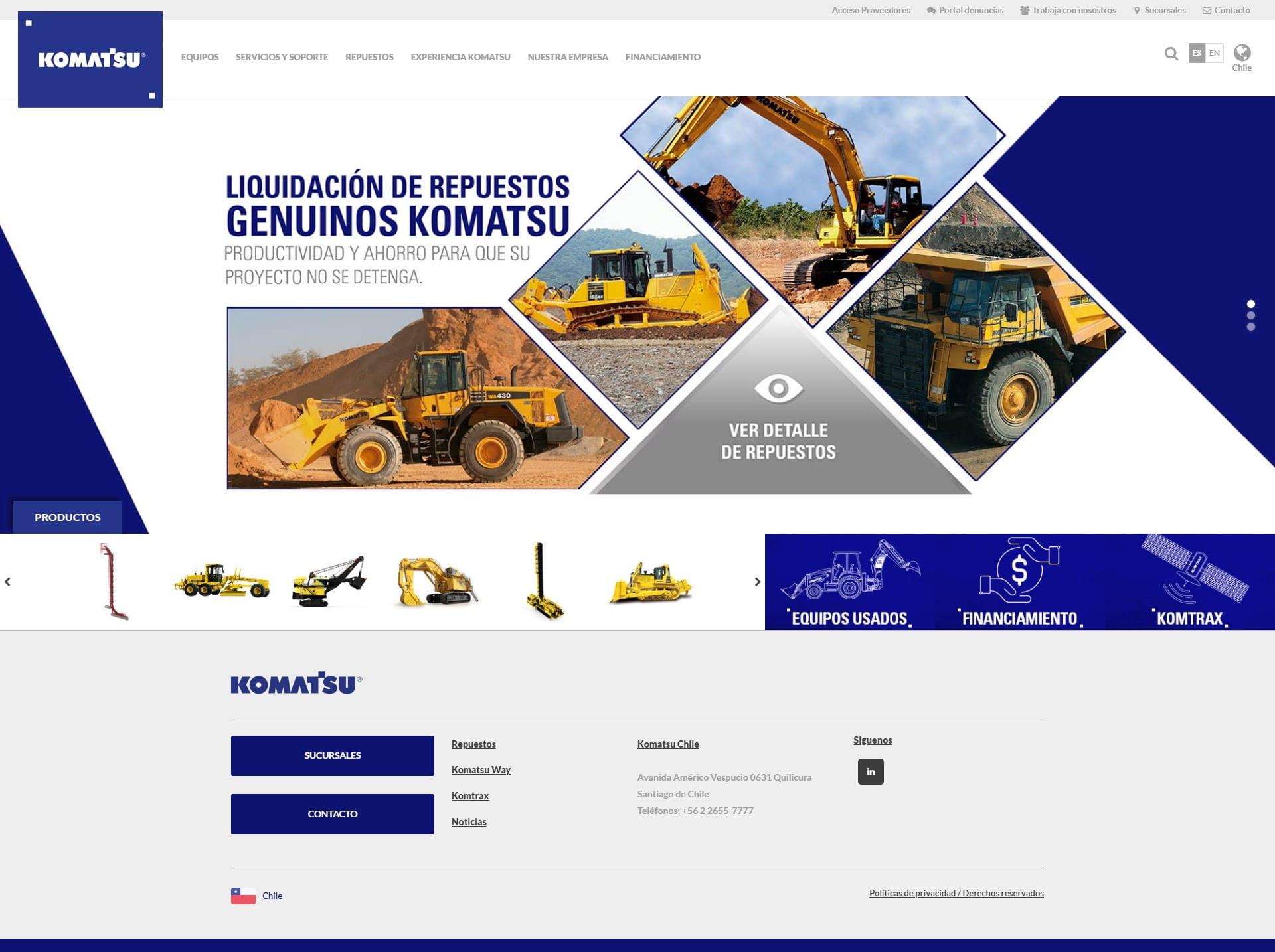 Komatsu Website