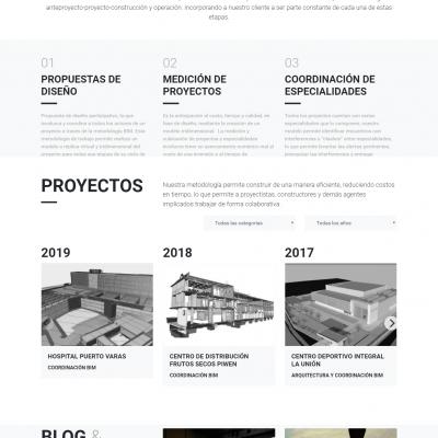 Sitio web de arquitectura
