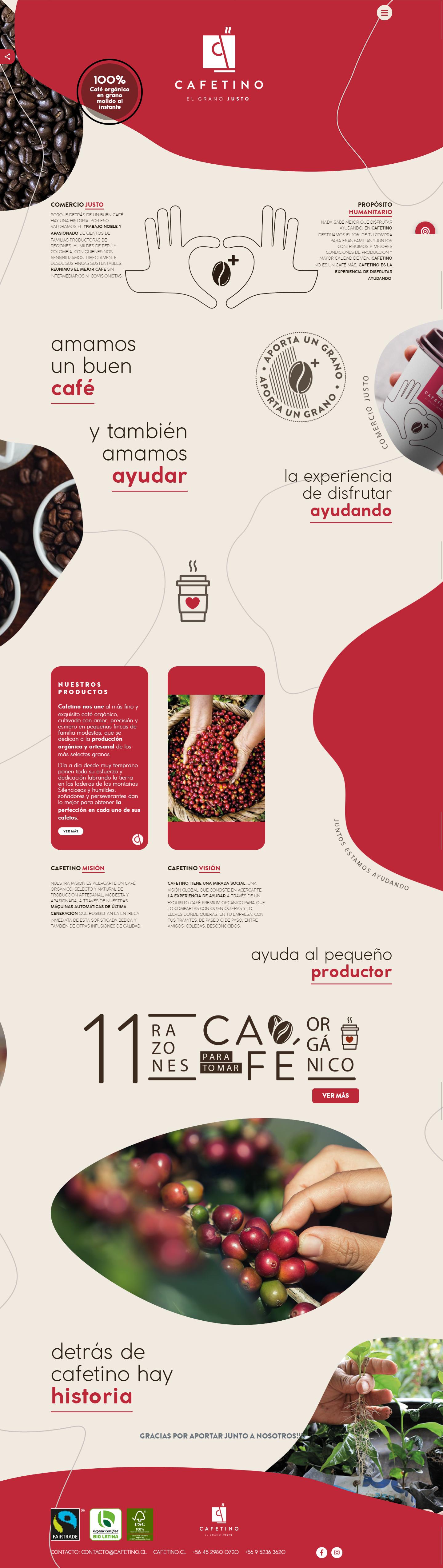 Sitio web Cafetino